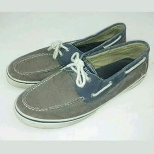 Sperry Halyard Salt Washed Loafers Boat Dock Shoes